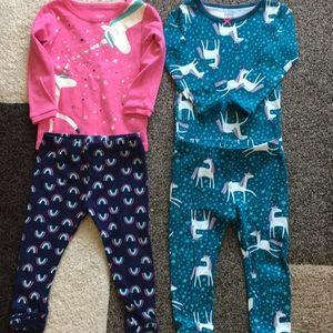 12 month girls pajama set bundle